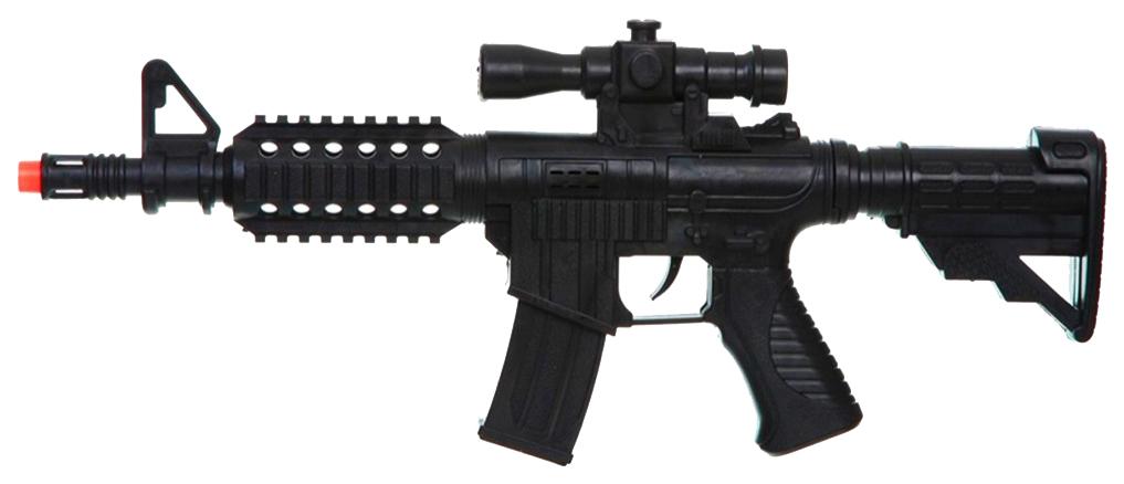 Купить Огнестрельное игрушечное оружие Shenzhen Toys Автомат черный, Стрелковое игрушечное оружие