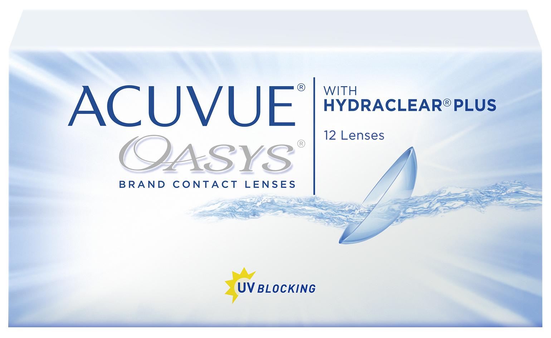 Контактные линзы Acuvue Oasys with Hydraclear Plus 12 линз R 8,8 -1,75