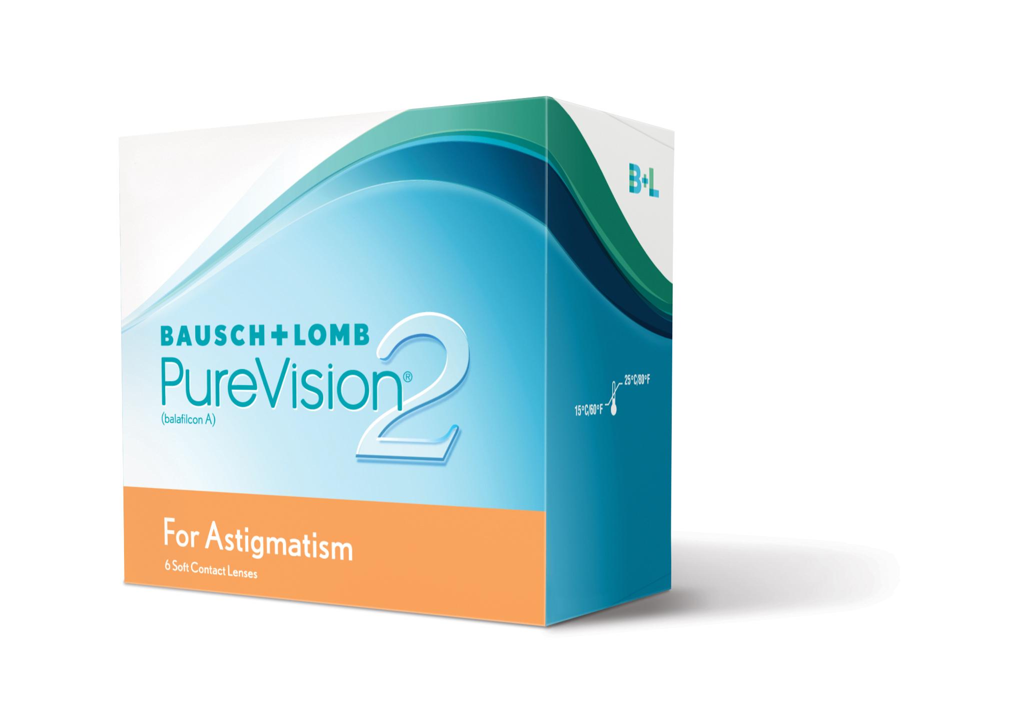Контактные линзы PureVision 2 for Astigmatism 3 линзы -4,50/-0,75/10