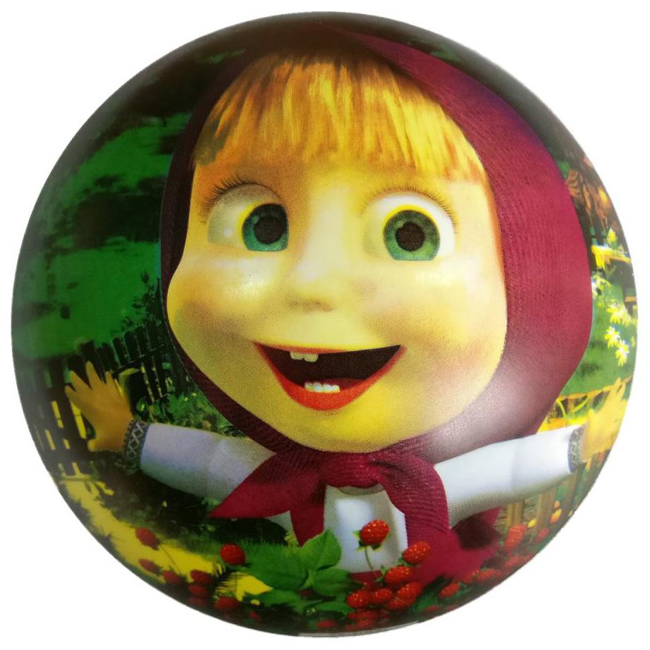 Купить Мячик детский Играем Вместе Маша и Медведь Полноцвет 23 см, Детские мячи