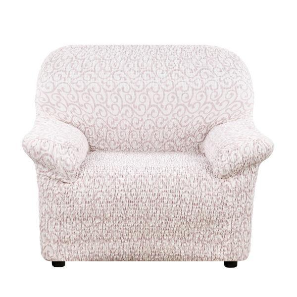 Чехол на кресло Еврочехол Тела Безарро молочный