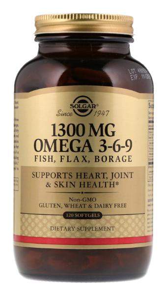 Купить Efa Omega 3-6-9, Omega 3-6-9 Solgar Efa 120 капс.