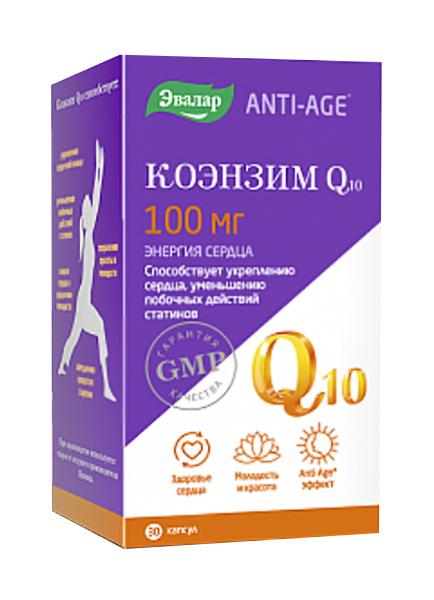 Купить Коэнзим Q10, Витаминно-минеральный комплекс Эвалар Q10 30 капс.