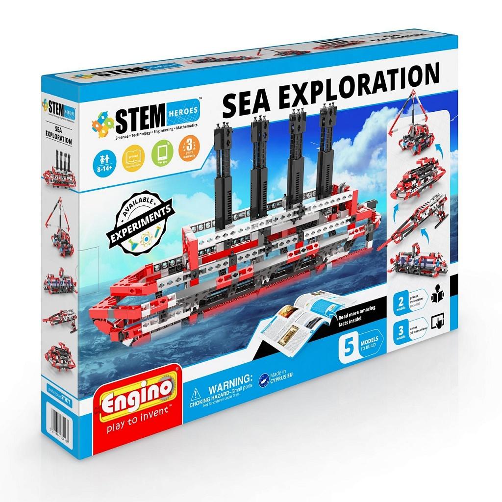 Конструктор ENGINO STH71 STEM Heroes. Набор из 5 моделей.Морские исследования фото