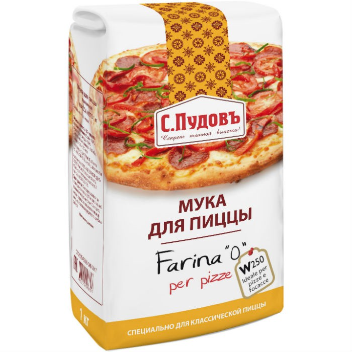 Мука для пиццы С.Пудовъ 1 кг