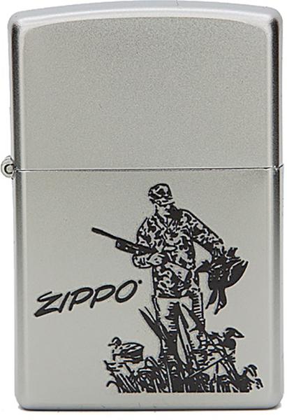 Зажигалка Zippo №205 Duck Hunting Satin Chrome фото