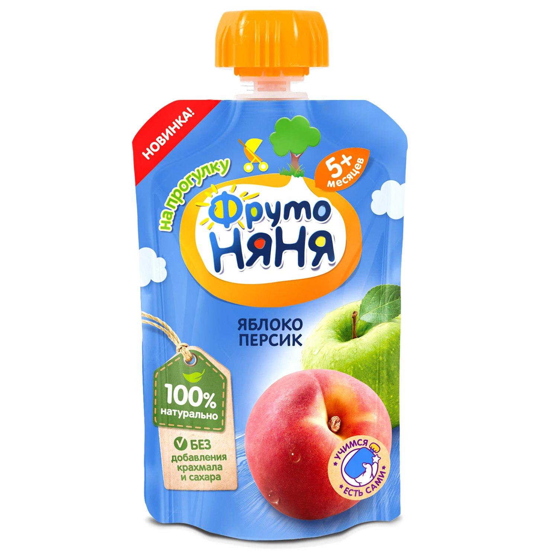 Пюре ФрутоНяня яблоко-персик с 5 месяцев 90г