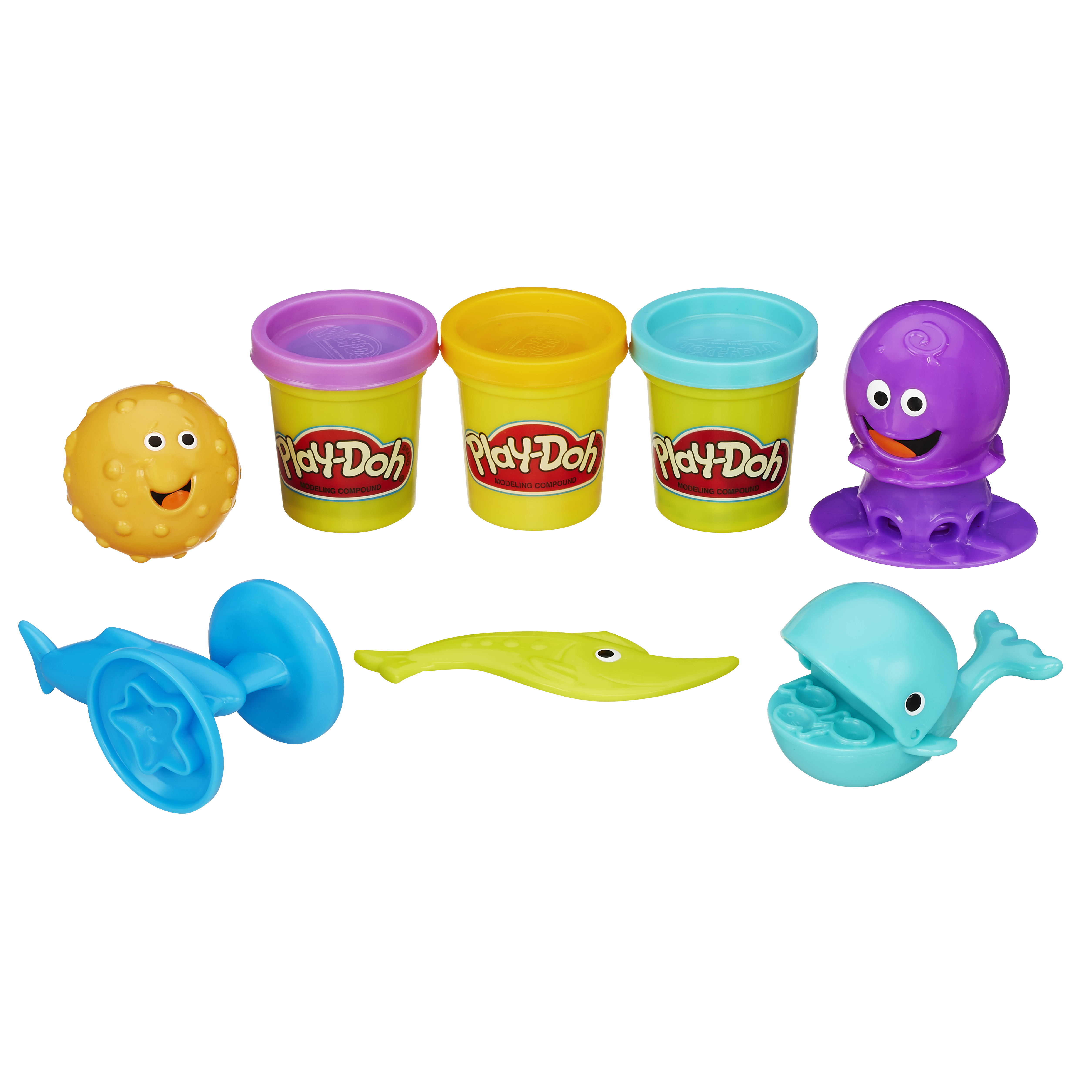 """Набор для лепки из пластилина play-doh """"подводный мир"""" b1378"""