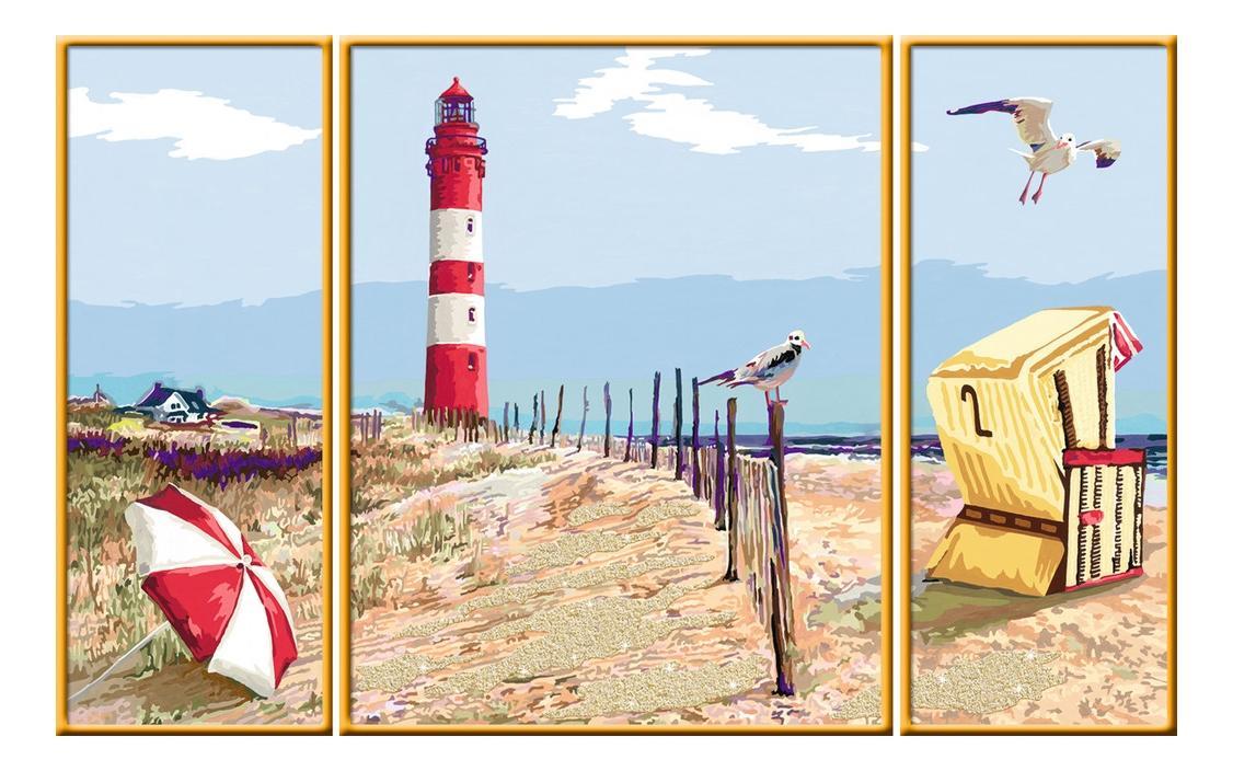 Раскрашивание по номерам «маяк» размер картинки – 80*50 см