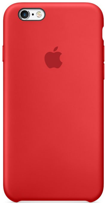 APPLE SILICONE CASE RED  фото