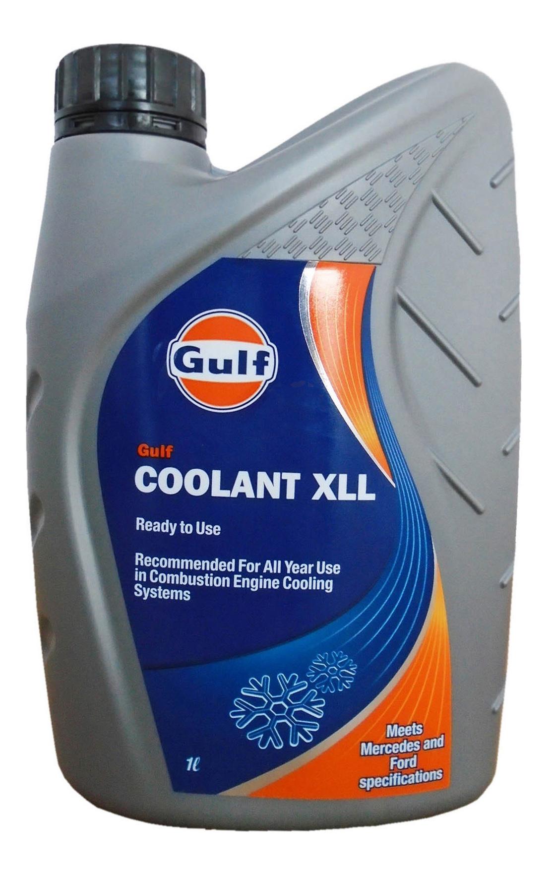 Антифриз GULF GULF COOLANT XLL G12+ синий готовый антифриз 1л фото