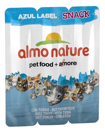 Лакомство для кошек Almo Nature Azul Label Snack колбаски, тунец, курица, 3 шт по 15 г