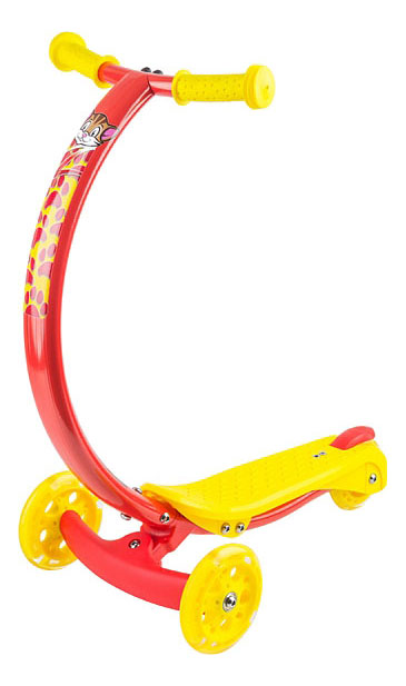 Купить Самокат трехколесный Zycom Zipster Котенок 1149159 голубой-желтый, Самокаты детские трехколесные