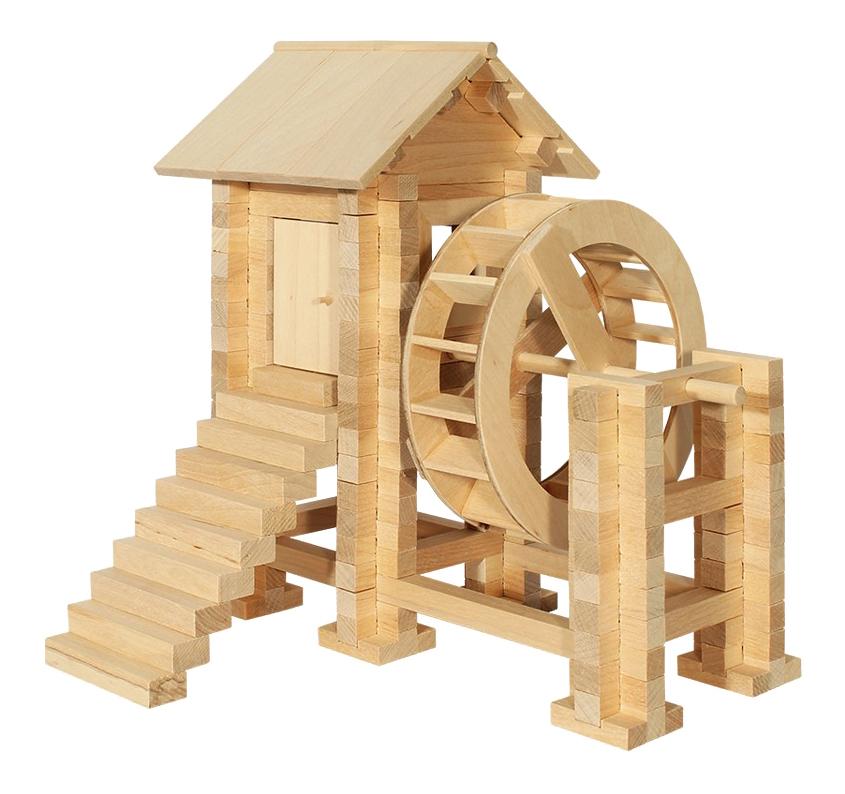 Конструктор деревянный Пелси Водяная мельница