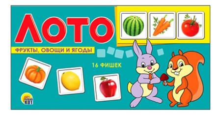 Купить Семейная настольная игра Лото Рыжий Кот Фрукты, ягоды и овощи, Рыжий кот, Семейные настольные игры