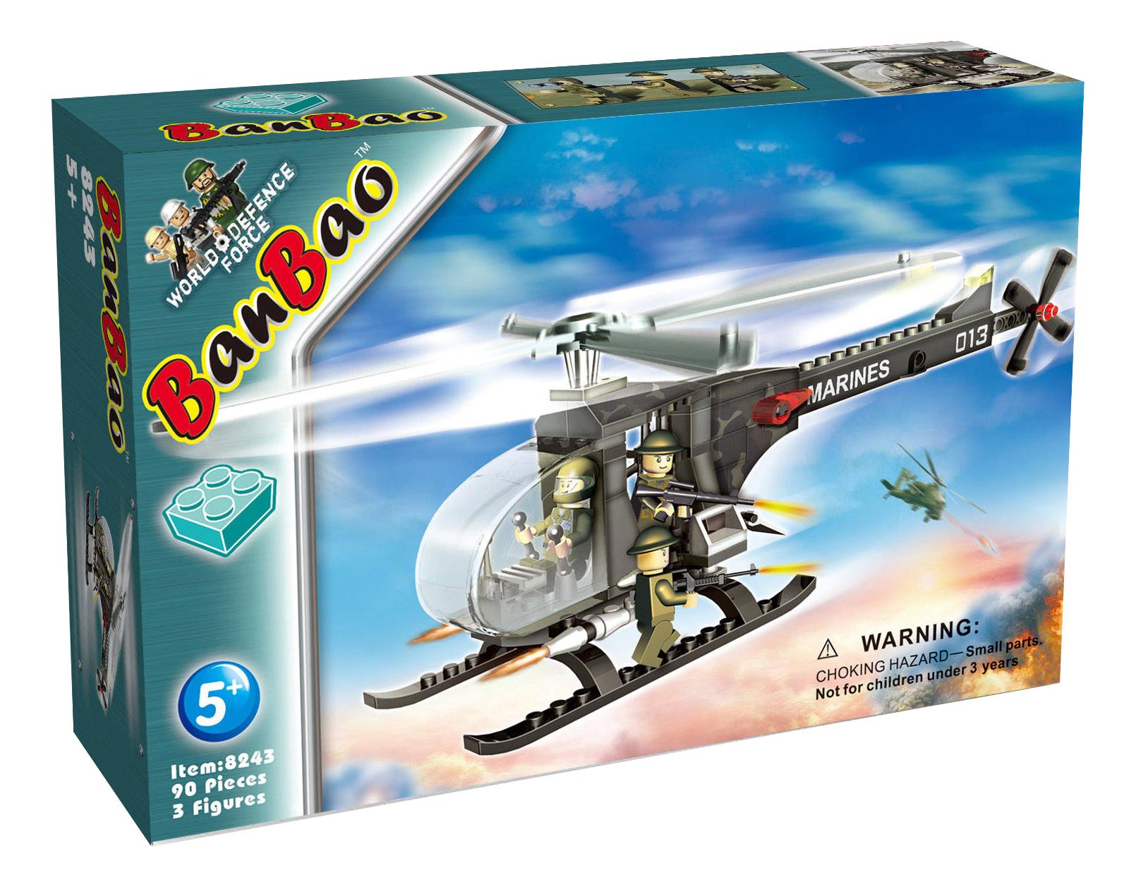 Конструктор пластиковый BanBao Военный вертолет фото