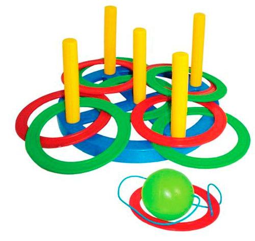 Игровой набор 2 в 1 ПЛАСТМАСТЕР 40010 Кольцеброс + Поймай шарик, в ассортименте