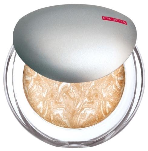 Пудра компактная запеченная PUPA Luminys Baked Face Powder, тон №01 Ivory Beige (52401)