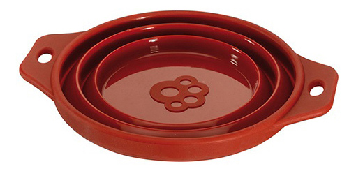 Одинарная миска для собак Ferplast, силикон, коричневый, синий, 1 л фото