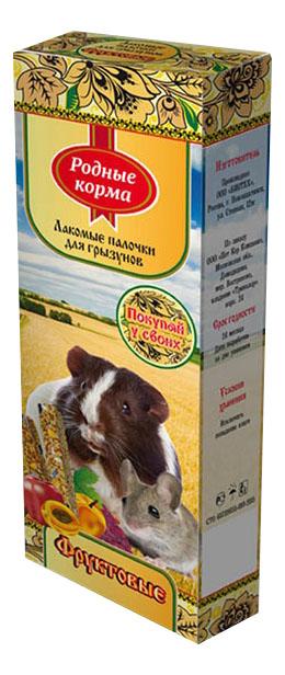 Лакомство для грызунов Родные Корма палочки фруктовые, 2 шт, 100г