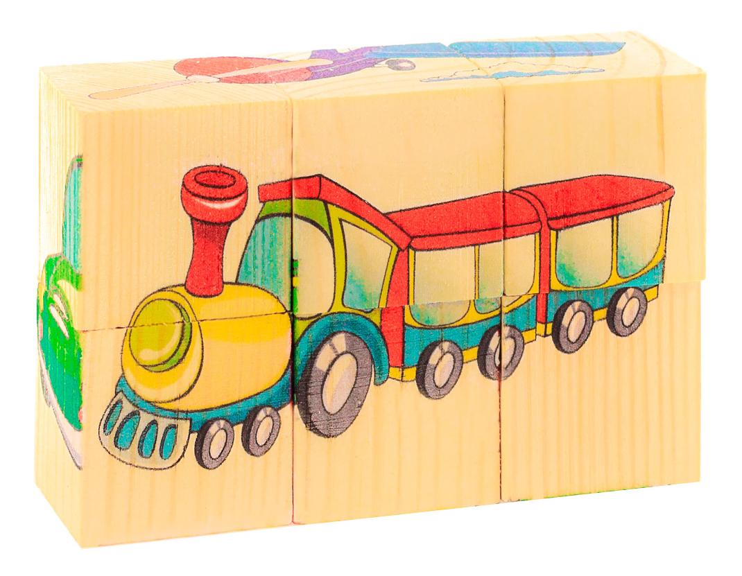Детские кубики Анданте Транспорт