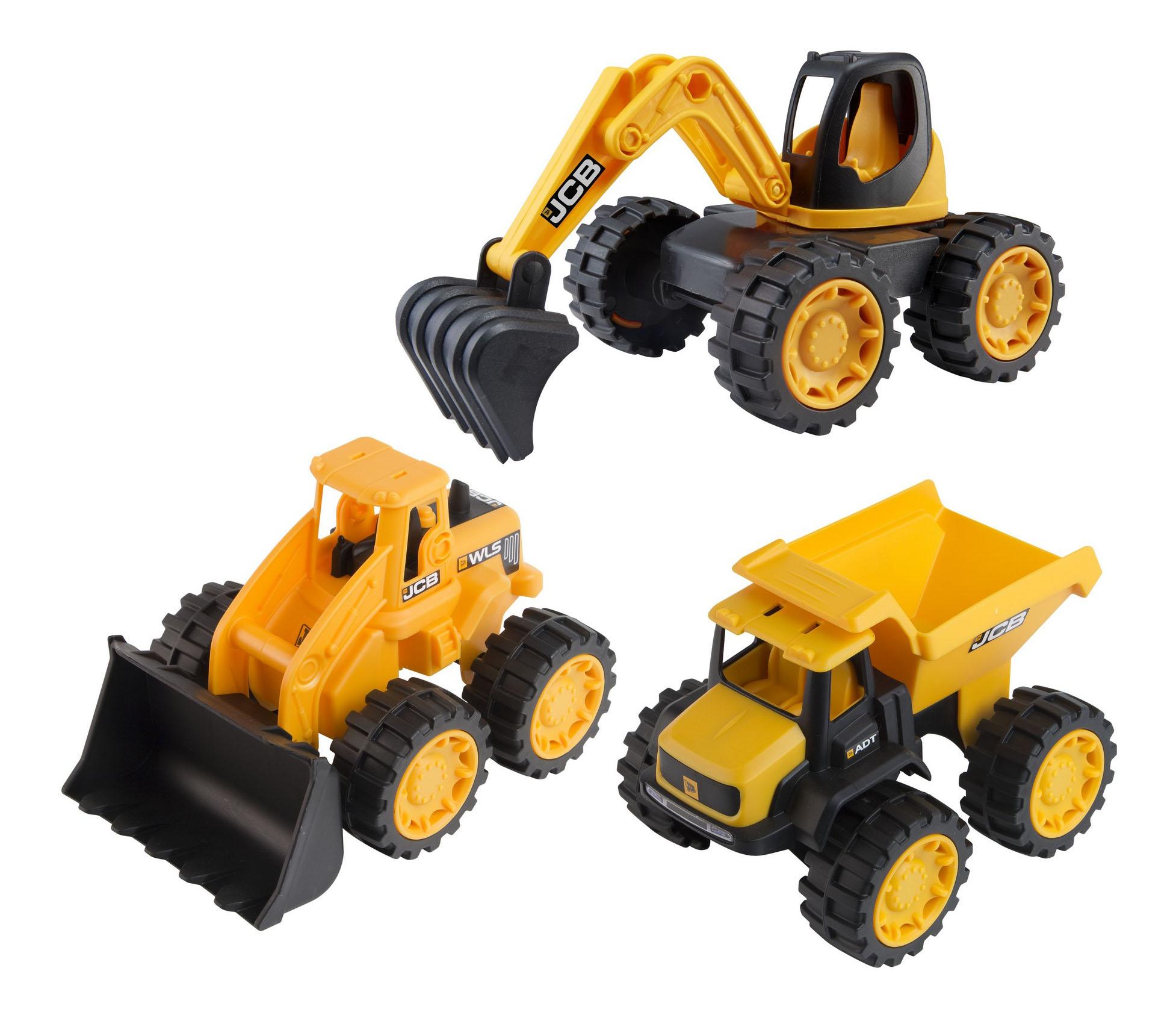 Купить JCB 3 машинки, Строительная техника HTI Игровой набор JCB 1416234 3 машинки,