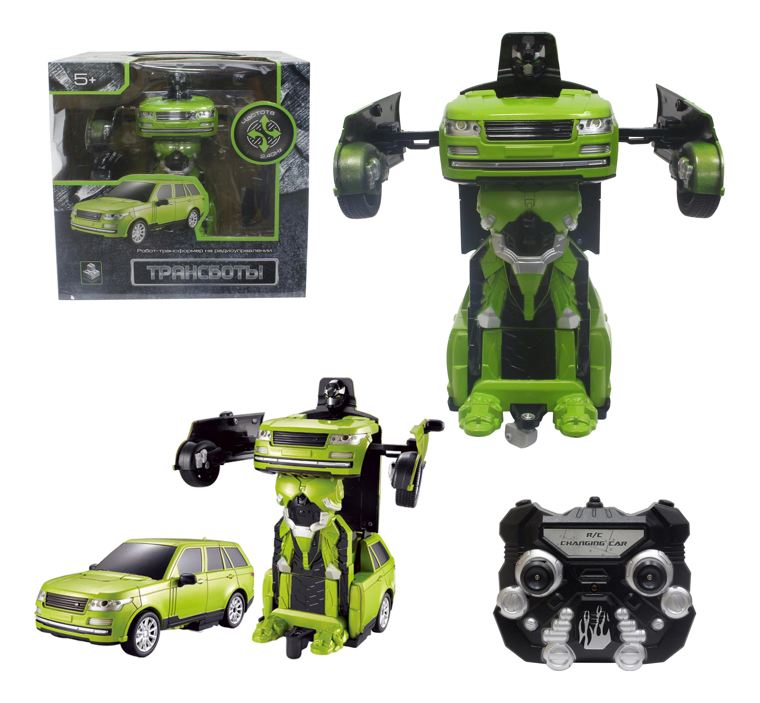 Купить Трансботы Джип, Радиоуправляемый робот 1TOY Трансботы - Джип зелёный, 1 TOY, Радиоуправляемые роботы