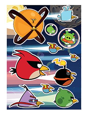 Купить Наклейка декоративная для детской комнаты Decoretto Птички в космосе, Аксессуары для детской комнаты