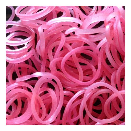 Плетение из резинок Rainbow Loom Перламутр розовый