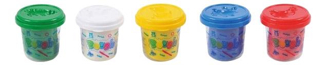 Купить Пластилин Playgo 5 баночек, Play&Go, Лепка
