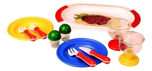 Набор посуды игрушечный Spielstabil Сытный обед
