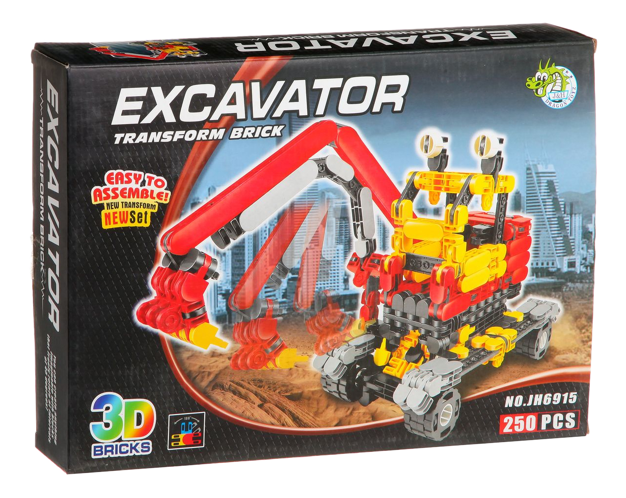 Конструктор Страйп Экскаватор Dragon Toys 250 дет.