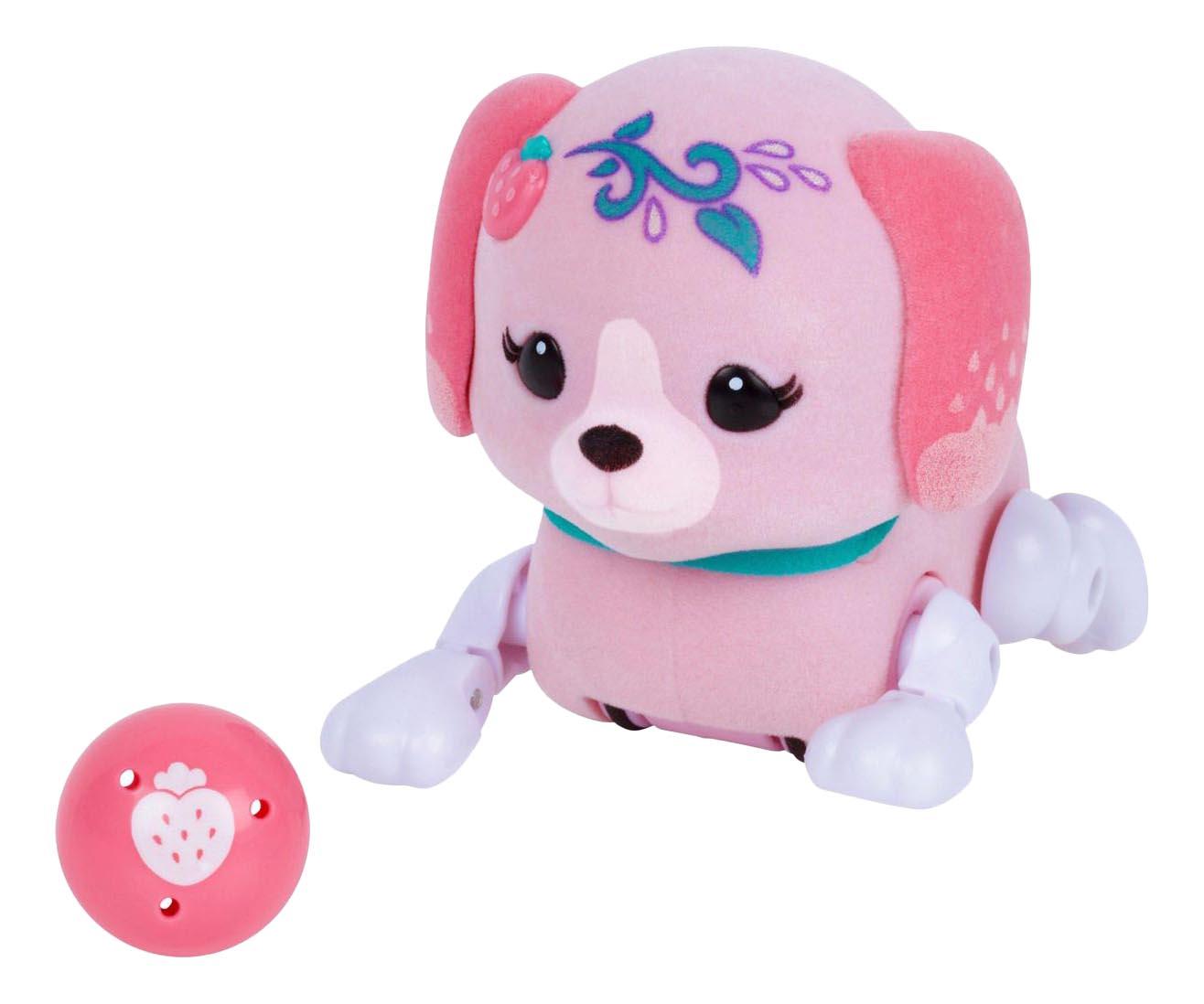 Интерактивная игрушка Щенок с мячиком Little Live Pets Клубничка фото