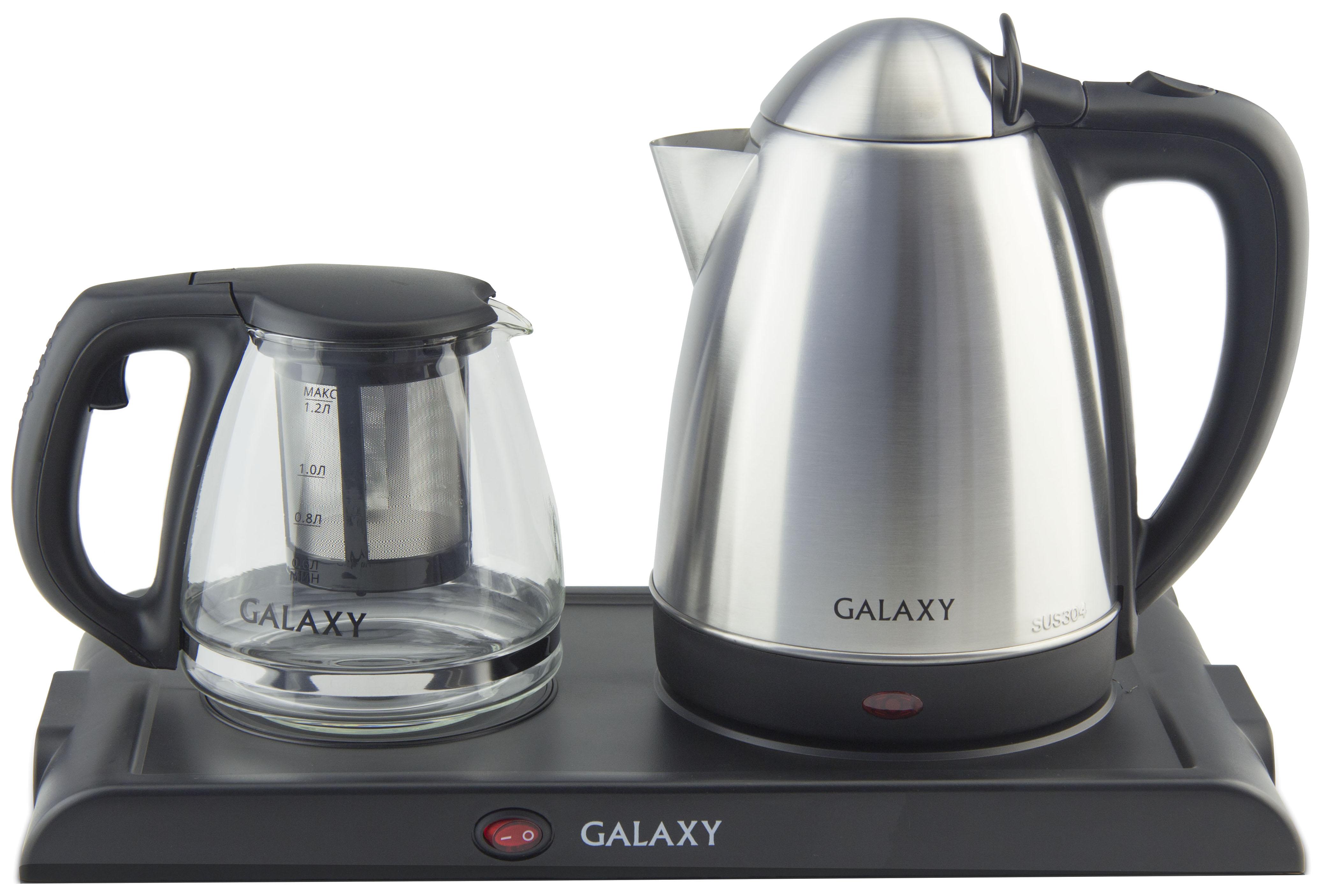 Чайник электрический Galaxy GL 0404 Silver/Black