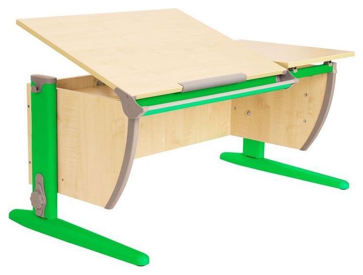 Парта Дэми СУТ 17-02 с двумя задними и боковой приставками Клен Зеленый 120 см