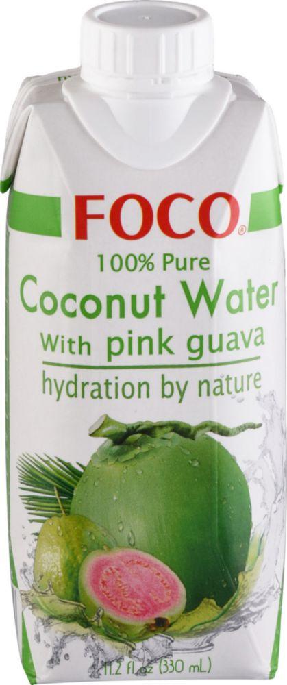 Вода кокосовая Foco с розовой гуавой 330 мл