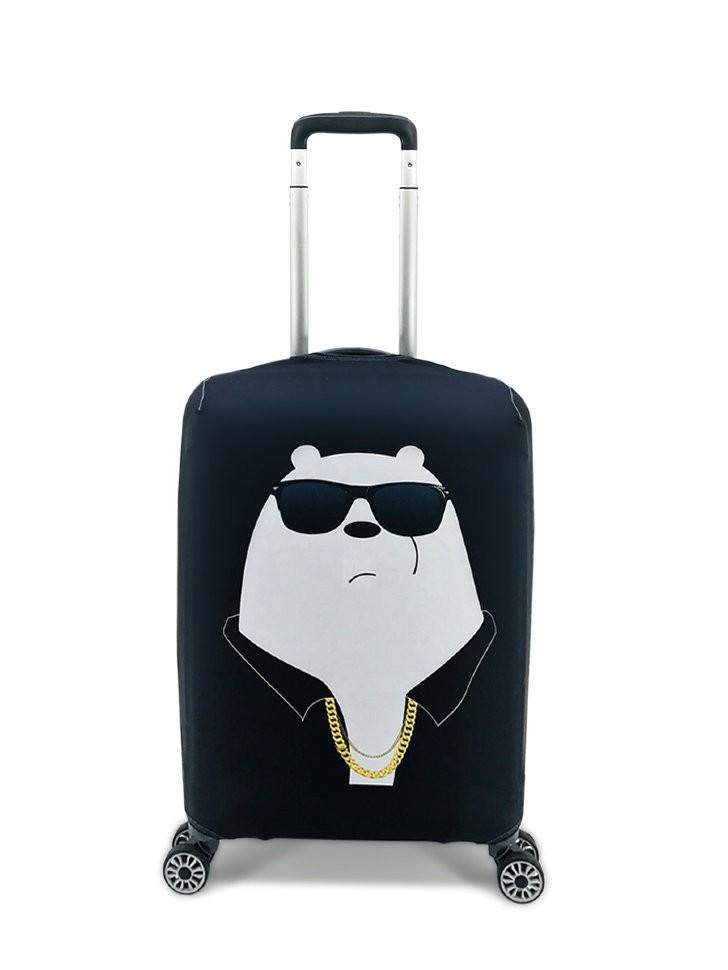 Чехол для чемодана Мишка бандит S (ручная кладь) фото