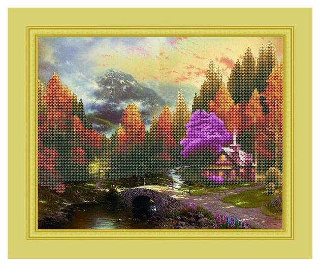 Купить Мозаика алмазная (блестящая) лунная ночь 40х50 см (19 цветов) asi001 Рыжий кот, Мозаики