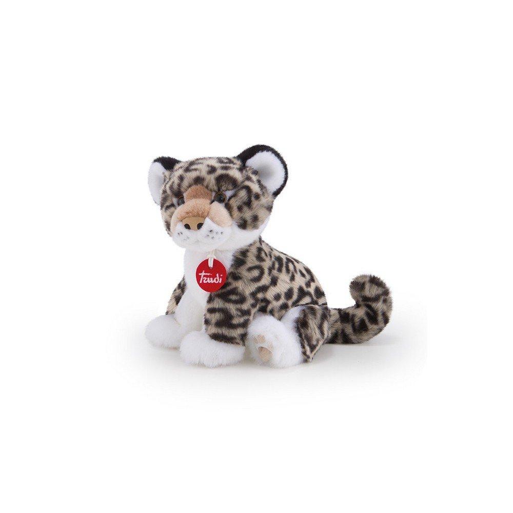 Купить Мягкая игрушка Леопард Леопольдо , серый, 24 см Trudi, Мягкие игрушки животные