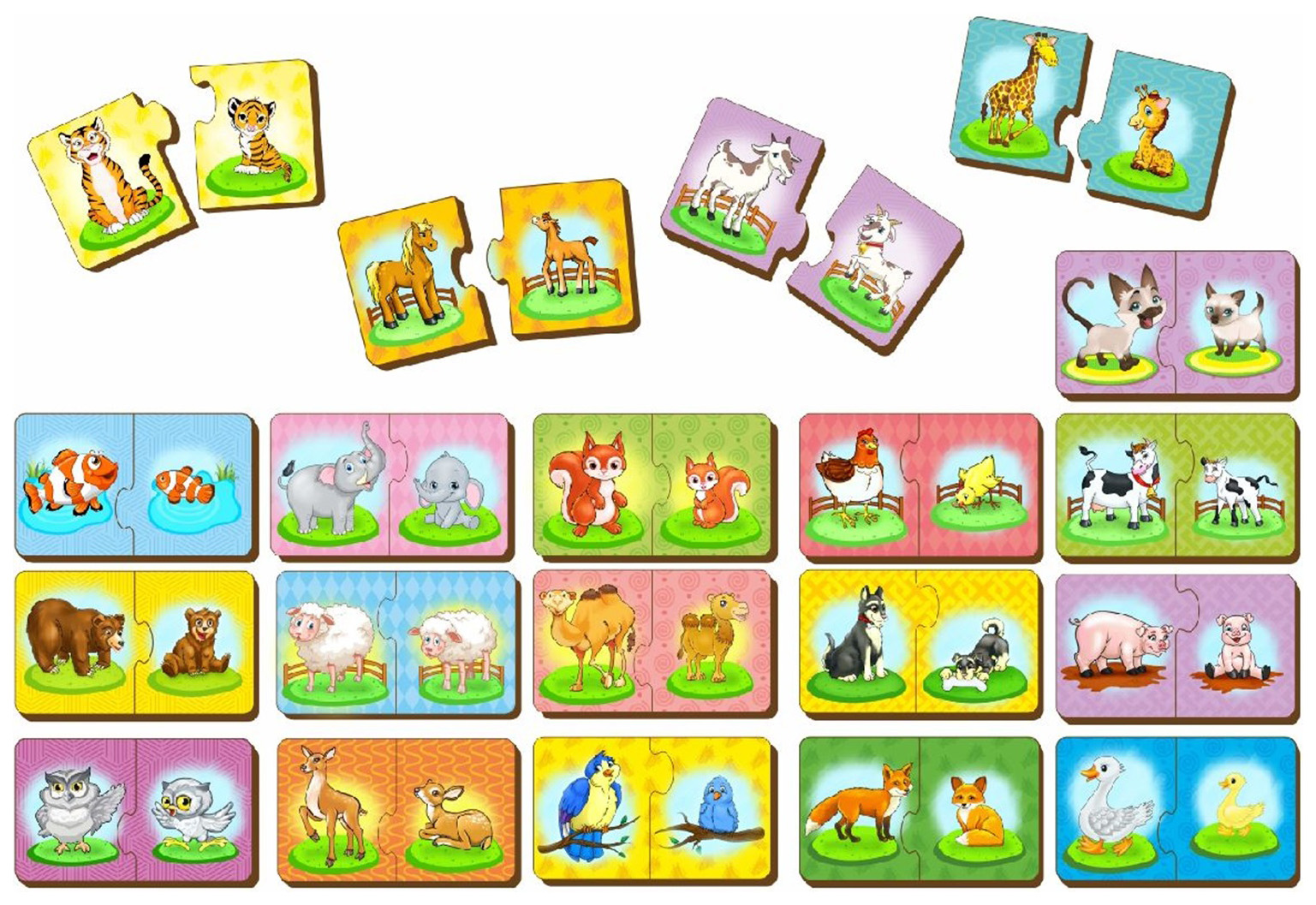 Купить Набор пазлов Мама и малыш , 40 элементов Woodland (Сибирский сувенир), Пазлы