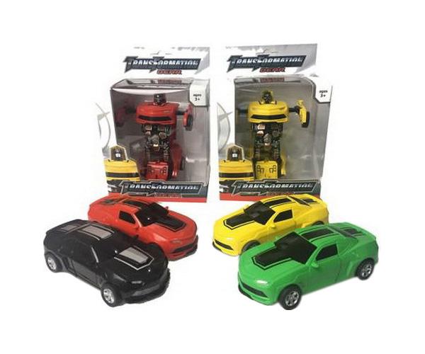 Купить Робот-трансформер в машину, 13х19х9 см, Junfa toys,