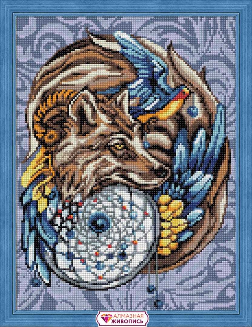 """Картина стразами """"Волшебный амулет"""" (АЖ-1592)"""