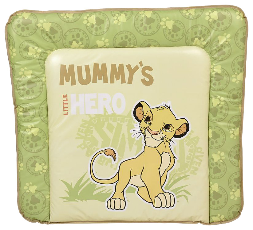 Доска пеленальная мягкая Polini Kids Disney baby Король Лев, 77х72 см, салатовый