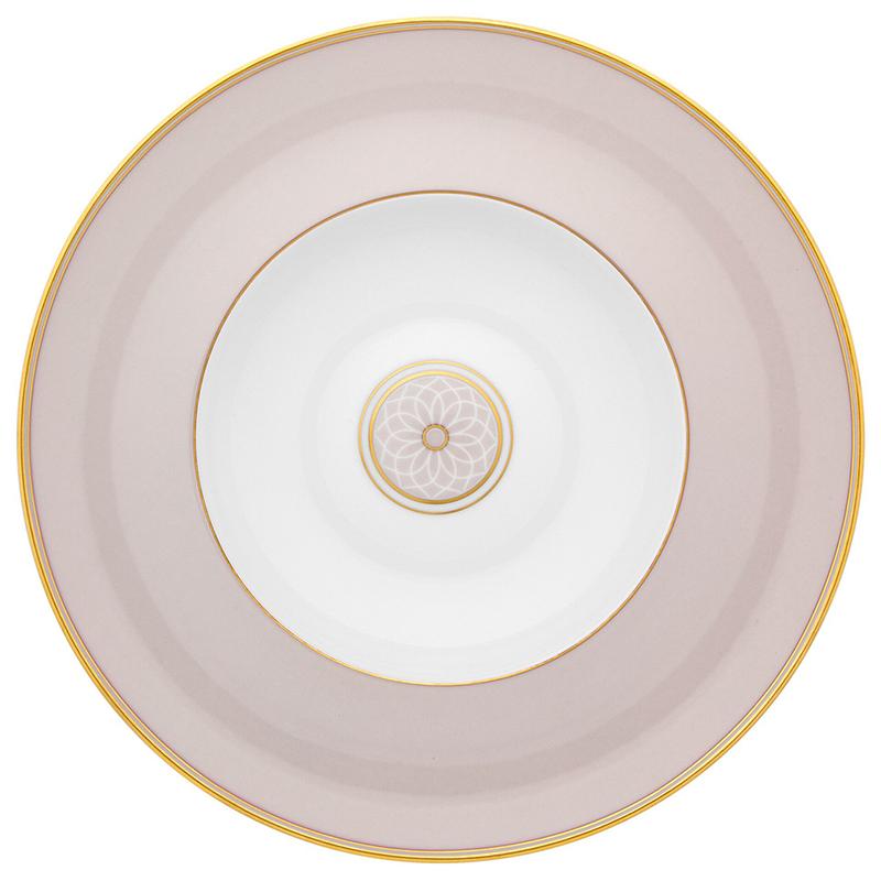 Тарелка суповая 25,2см Vista Alegre TERRACE, цвет белый, золотой