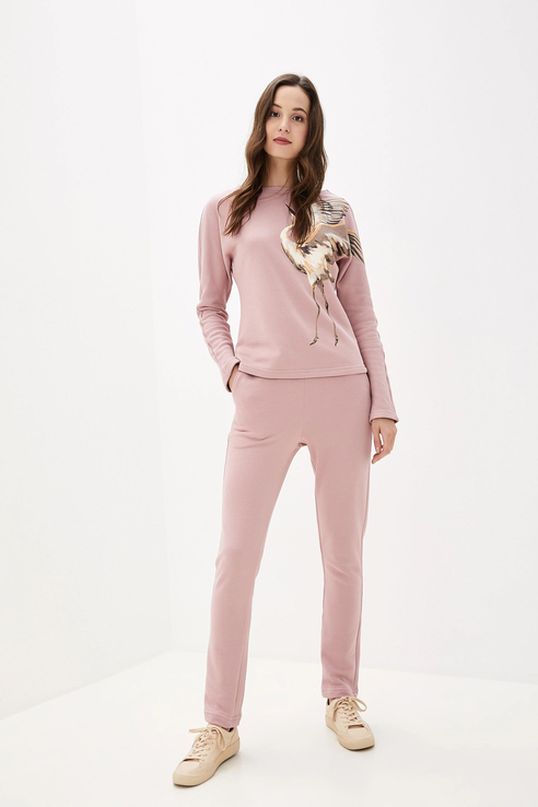 Брюки женские Fashion.Love.Story. 19PF9118PUKHJR розовые 42 RU