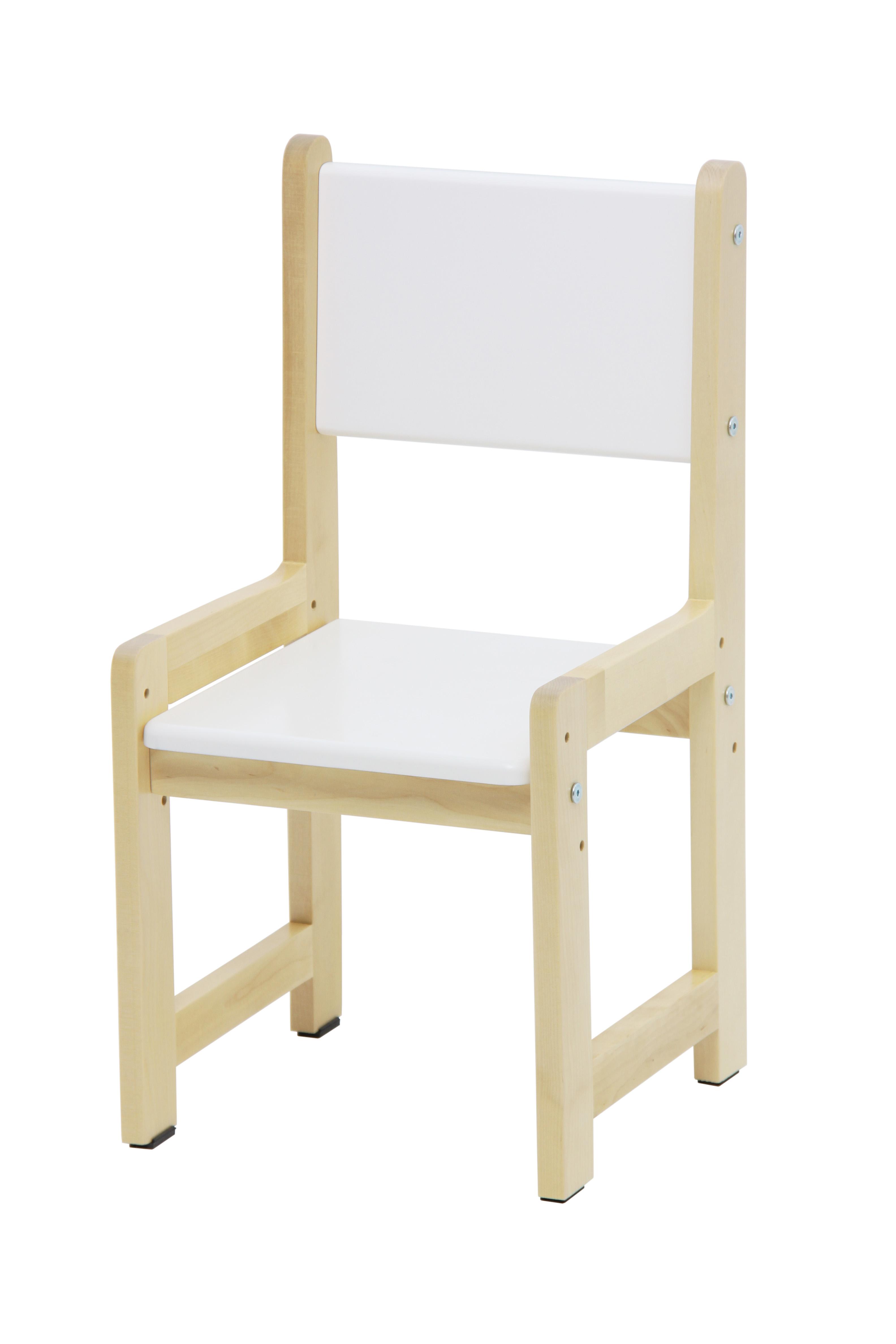 Стул для комплекта растущей детской мебели Polini Kids Eco 400 SM, белый-натуральный