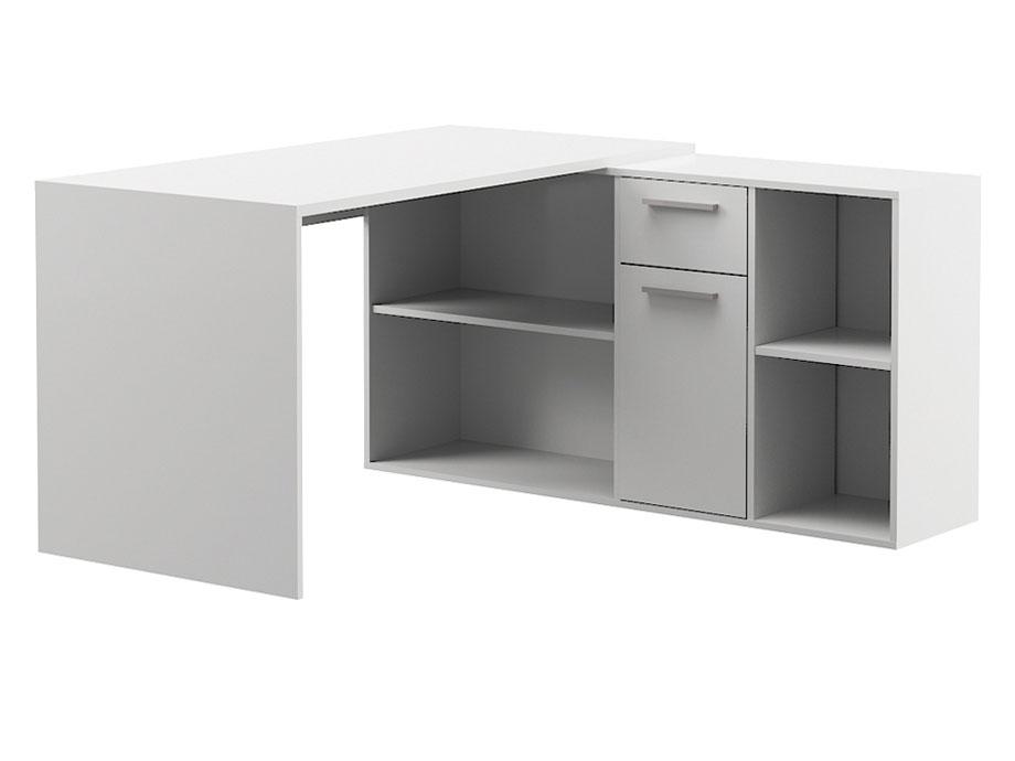 Компьютерный стол Mobi Лайт 136x139,2x75,2, белый