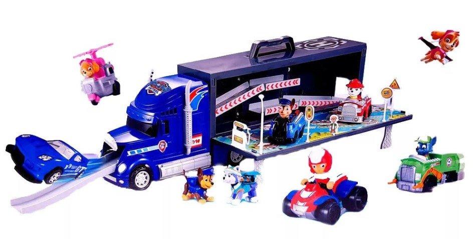 Купить Наборы игрушечного транспорта Toy Interesting Щенячий патруль грузовик+машина XZ-355N, Машинки-трансформеры
