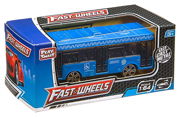 Купить Набор травмаев и автобусов 36 шт. Fast Wheels Play Smart 1:64, PLAYSMART, Городской транспорт