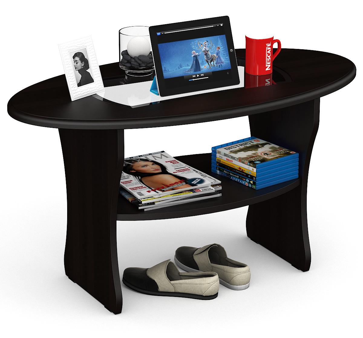 Журнальный столик Мебельный Двор МД-СЖ-9 101х54х55 см, венге фото